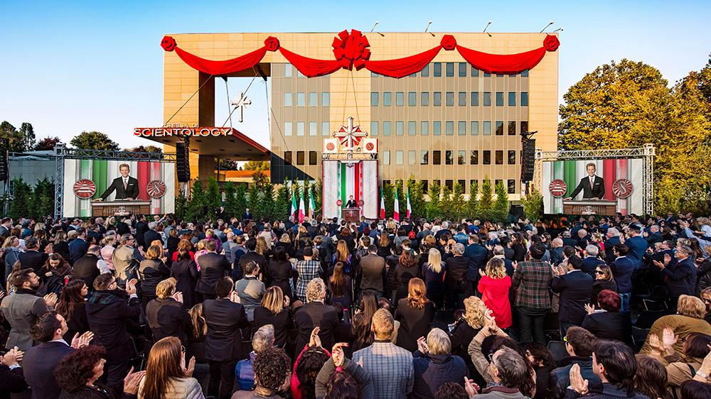 Открытие саентологической церкви в Милане