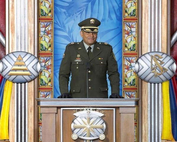 Подполковник Эдгар Рохас (Edgar Rojas), командующий национальной полиции Колумбии по спецоперациям в сельской местности.