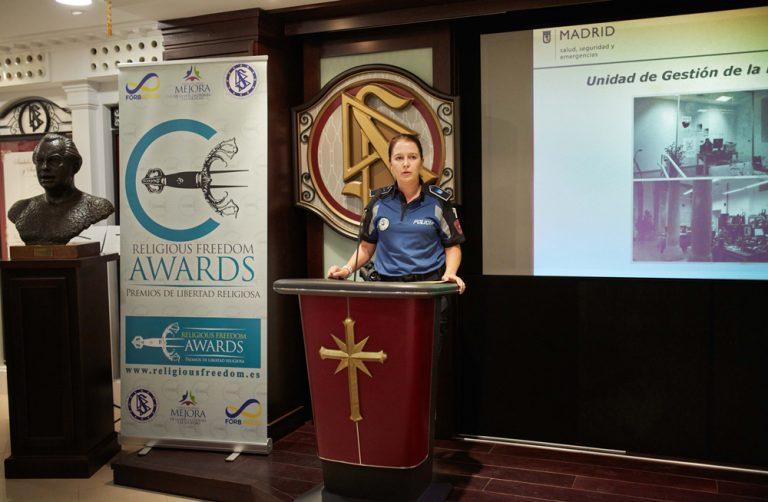 Выступление представителя Мадридской полиции на вручении награды «За свободу вероисповедания».